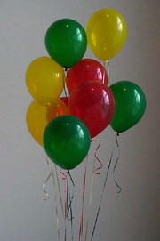 Red Yellow and Green Ballons